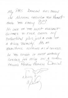 Letter from Nancy Wilson